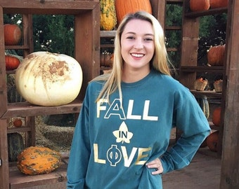 Fall In Love Alpha Phi T-shirt