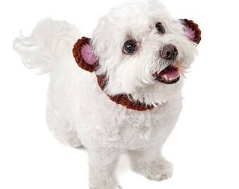 Monkey Dog Snood | Knit Crochet Dog Hat | Dog Costume | Winter Scarf | Ear Warmer
