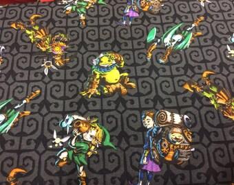 Nintendo Legend of Zelda fabric, Nintendo Fabric, Zelda fabric, Link fabric, novelty fabric, gamer fabric, geek fabric