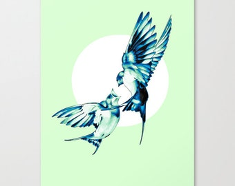 Birds - Family Values  Gallery Quality Streched Canvas
