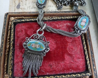 Antique Ladies Watch Chain Necklace, offered by RusticGypsyCreations