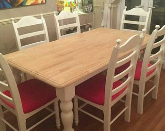 Stunning 6ft x 3ft Table and six chair set