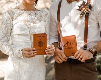 Passport Cover Wedding Gift Set For Couple, Bride Groom Passport Holders, Luggage Tag Gift Set, Wedding Day Gift, Leather Passport Holders