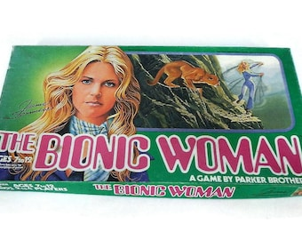 Vintage Bionic Woman Board Game, COMPLETE - Jaime Sommers, 1976, Parker Brothers #175, ages7-12 - Steve Austin,television,tv show,game night