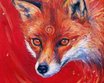 Fox Song -  A3 Print of an Original Painting by Laura Daligan