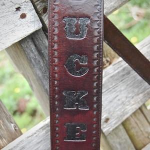 BadAss Personalized Custom Leather Guitar Strap Monogrammed Cool Groomsmen Gift