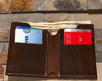 Wallet, Leather Wallet, Slim Leather Wallet, Distressed Leather Wallet, Minimalist Leather Wallet, Personalized Bifold Leather Wallet