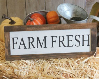 Rustic Farm Fresh Farmhouse Sign Magnolia Farms Decor French Country Cottage Chic Joanna Gaines Sign Magnolia Market Sign Fixer Upper Sign