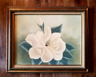 Large Oil On Canvas Flower Painting by Joyce Duhon, Original Art, Original Painting, Joyce Duhon Artist