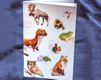 Cahier de notes Cathy Faucher illustration cahier de voyage mot enfant dessin