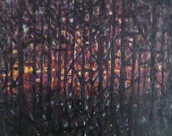Just Before Dark - 20 x 20 original oil on canvas