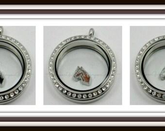 Horse Floating Charm for Glass locket / Floating Locket / Memory Locket