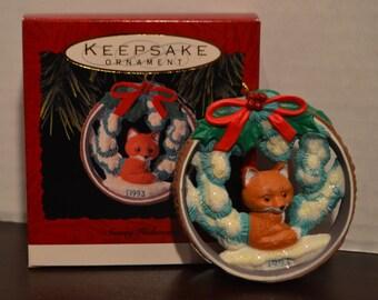 1993 Hallmark Keepsake Ornament Snowy Hideaway