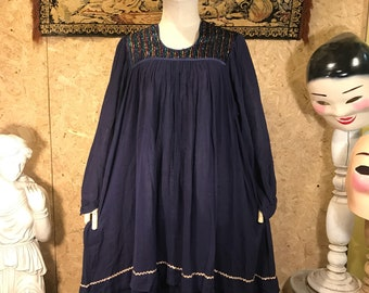 Vintage India gauze hippie boho dress