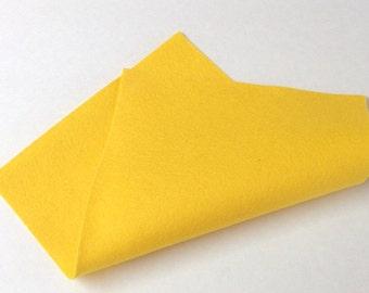 """8"""" x 12"""" Yellow Merino Wool Felt"""