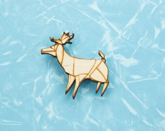 Origami Deer pin badge - gift for lovers of Japan, paper folders, origami jewelry, Japanese jewellery, Japanese jewellery
