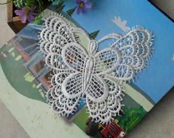 Wholesale LOT 20PCS    butterfly  lace Applique Patches