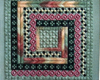 Patchwork (Needlepoint Canvas Included) A Ruth Dilts Design Especially For Rainbow Gallery Vintage Needlepoint Pattern Chartpack 1993