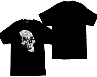 Classic Horror Movie Faces Image Men's T-Shirt