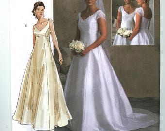 V2788 Vogue - Bridal Original - Misses Lined Princess Seamed Dress -  NEW Sewing pattern  Sz.  6-10, &  18-22