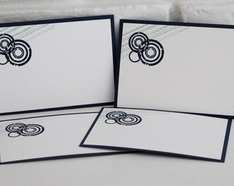 Abstract Masculine Note Card Set of Ten, Thank You Cards for Boys, Teenager Note Cards, All Occasion Notes for Men, Male Teacher Gift