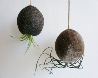 Air Plant Bubble. Llama Fibre Planter / Hanging Planter / Tillandsia Holder / Indoor plants / Organic Home / Natural decor / Handmade Decor