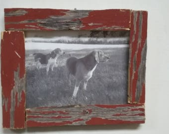 Indiana Reclaimed Barn Wood Handmade Picture Frame