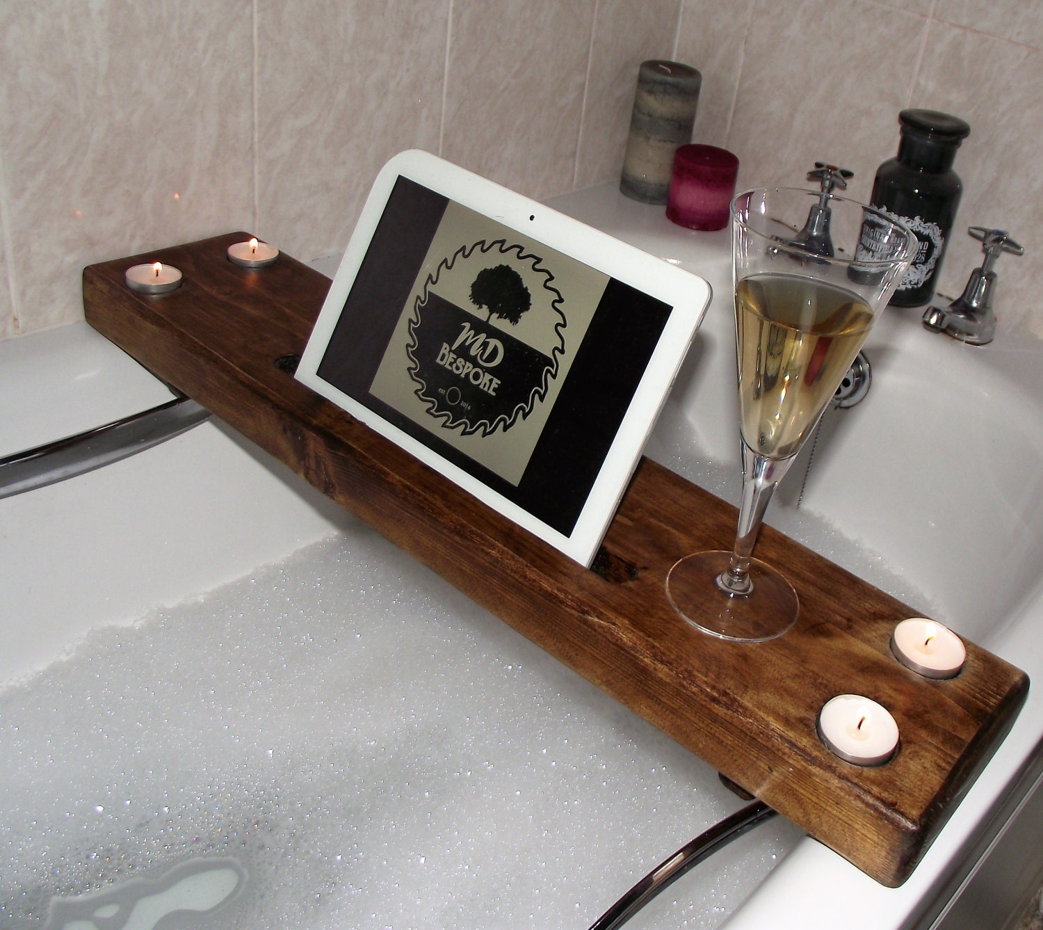 Wooden Bath Caddy Wooden Bath Tray Spa Pamper Bath