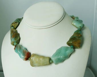 Amazing Amazonite Sterling Silver Necklace
