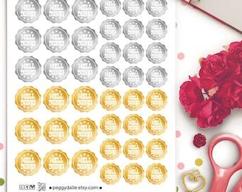 Well Done Badges Planner Stickers   Erin Condren   Kikki K   Filofax   Adulting Stickers