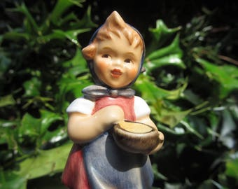 HUMMEL  Figurine  From Me To You  -- # 036   - HUM  629 - Hummel  Ceramic Girl Figurine with Pot - Stirring in Bowl