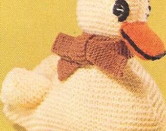 Amigurumi Pattern, Duck Pattern, Knitting Pattern, Amigurumi Toy, Stuffed Animal, PDF Pattern, Digital Download, Vintage Knitting, Duckling