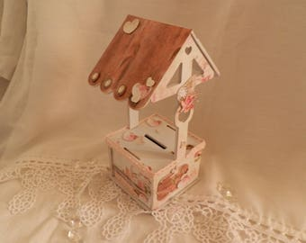 MDF decoration vintage piggy bank