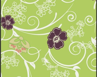 SALE Filigree - Lime Flowery Trellis - Art Gallery Pat Bravo - Available in Yards, Half Yards and Fat Quarters