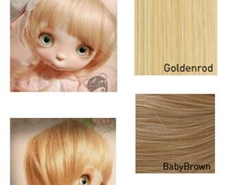 "Ppinkys 1/4 bjd 6'-7', 7-8"" doll wig super dollfie"