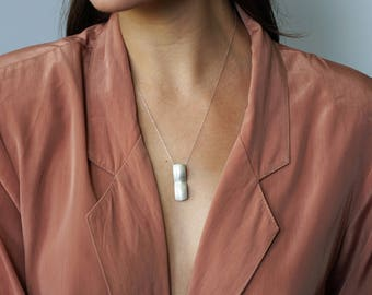 minimalist sterling silver pendant necklace