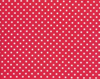 Tanya Whelan - Delilah - Delilah Dots in Red - polka dot cotton quilting fabric - HALF YARD cut