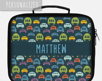 Lunch Bag for Kids, Personalized Lunch Box for Kids, Personalized Lunch Bag, Lunch Bag for a Boy, Lunch Bag Kids, Car Lunch Bag, School Gift