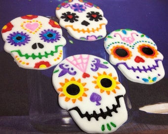 Fondant Day of the Dead Skulls
