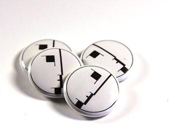 Bauhaus Pinback Button