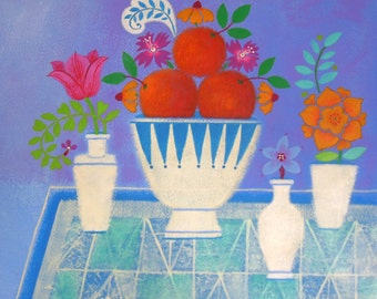 "An Original Acrylic Painting- ""Persian Delight"""