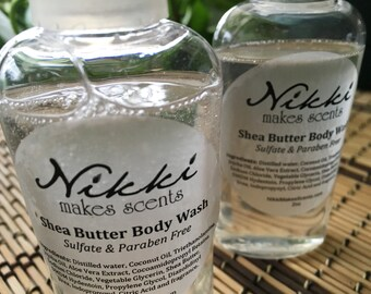 Shea Butter Body Wash Sample - SPRING/SUMMER-inspired fragrances (your choice)