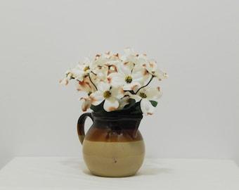 Floral Centerpiece, Flowers in Vase, Spring Flowers, Flower Arrangement, Spring Arrangement, Ceramic Pitcher, Silk Flowers, Silk Floral