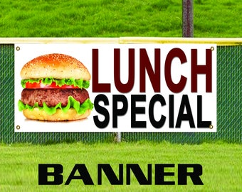 Lunch Special Food Deli Advertising New Discount Promotion Vinyl Banner Sign
