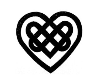 Celtic Knot heart Rubber Stamp