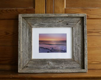 """High Bar Sunrise: 5x7"""" photo framed in reclaimed cedar"""