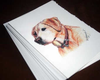 Blonde Lab note card,stationary, notecard, stationery, set of 4