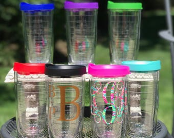 Monogrammed Tumbler, Custom Tumbler,Personalized Tumbler,Bachelorette Gift,Coffee Tumbler,Bridesmaid Gift,Sorority Gift,College Gift,