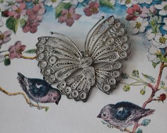 Vintage Filigree Butterfly Brooch Vintage Filigree Butterfly Pin Vintage Butterfly Brooch Vintage Butterfly Pin
