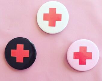 Button- Medic Cross - Menhera Punk Yamikawaii